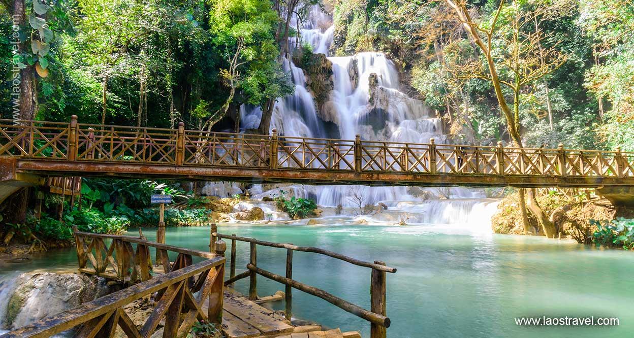 Laos Luang Prabang Kuang Si Waterfall 1 Laos Travel