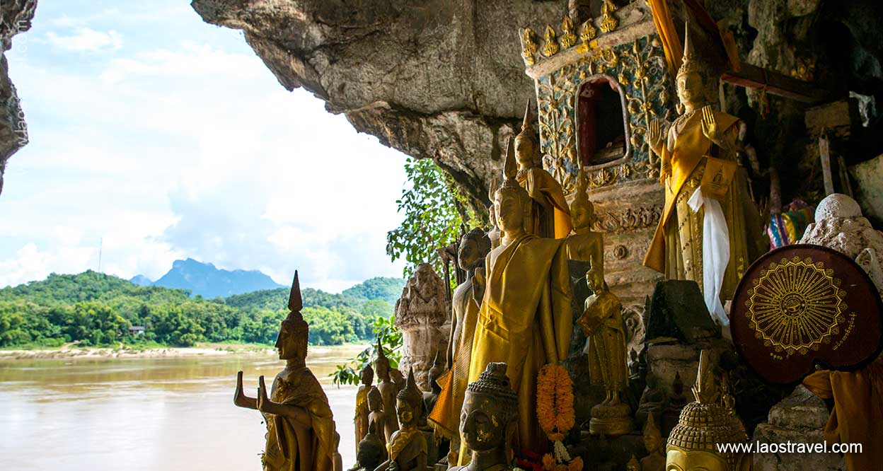 Pak Ou Caves over the Mekong River