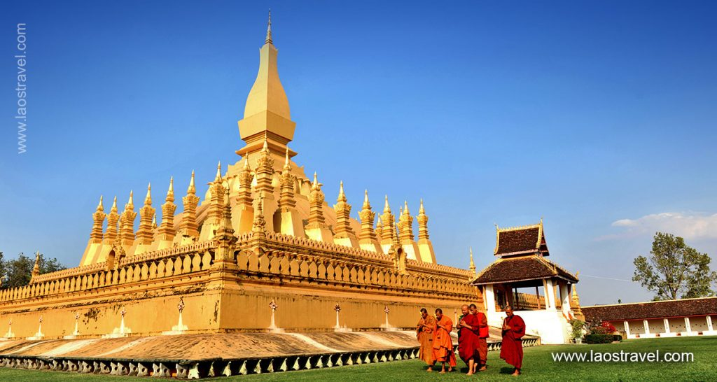 Pha That Luang - the national symbol in Vientiane.