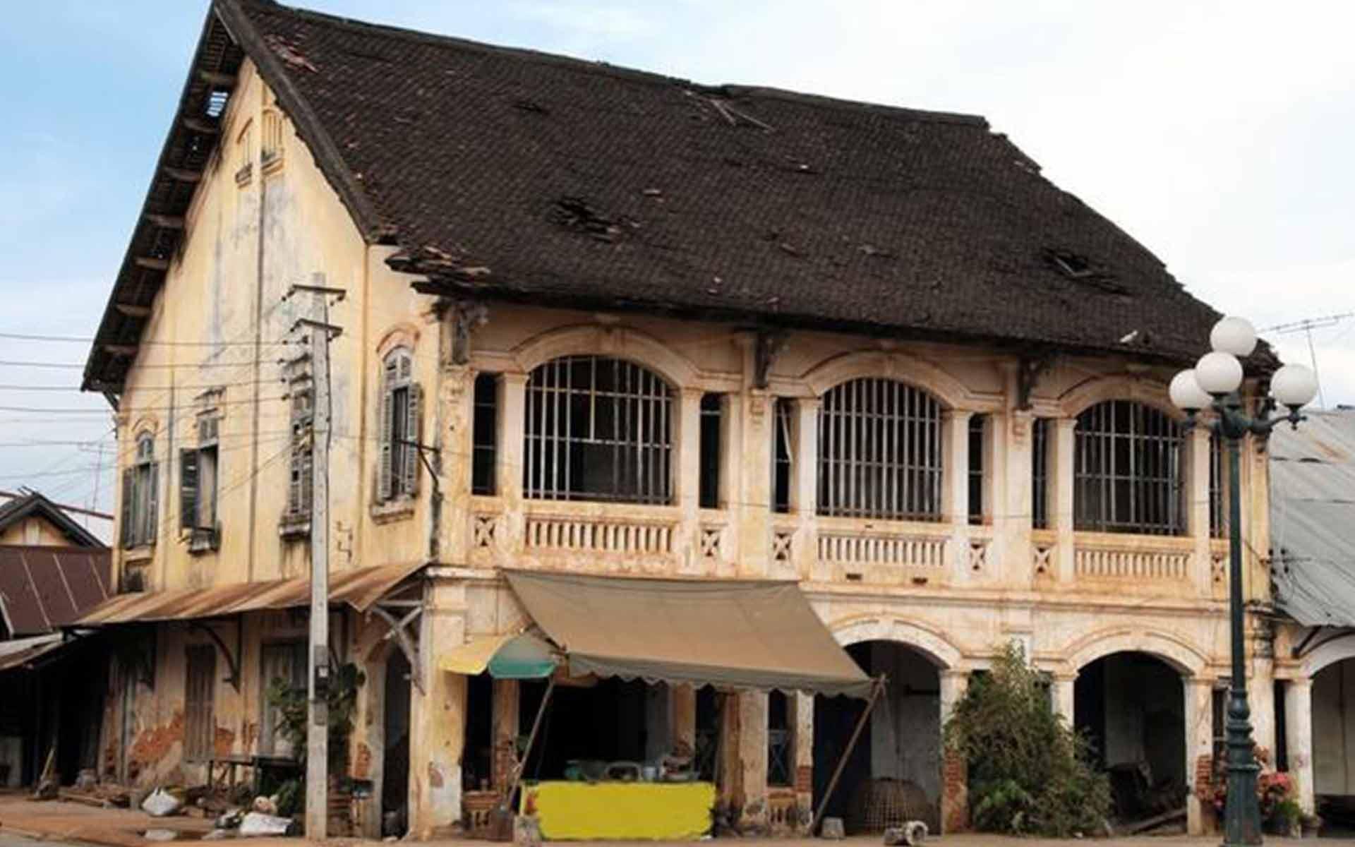 Laos ancient house