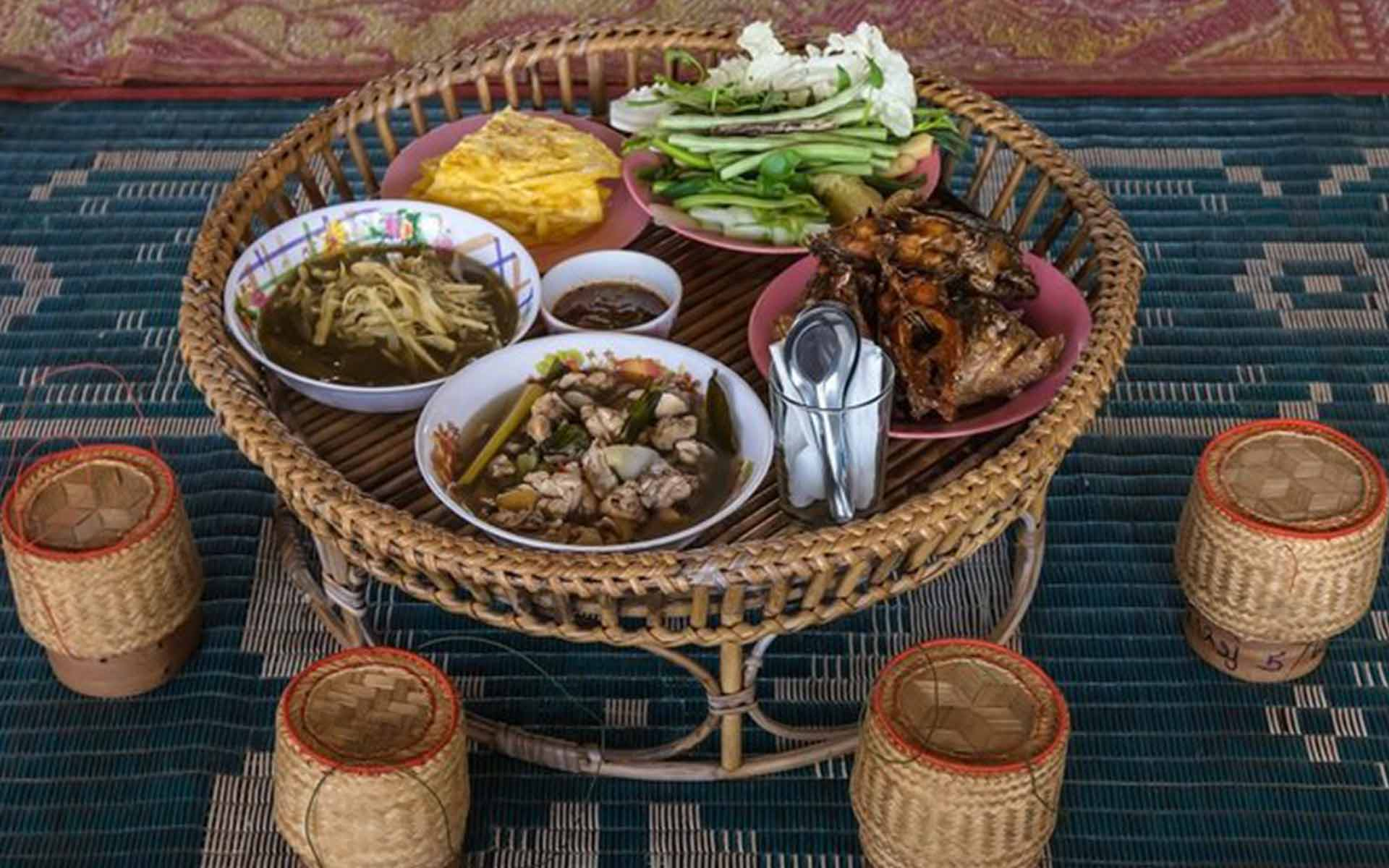 Traditional dishes in Laos