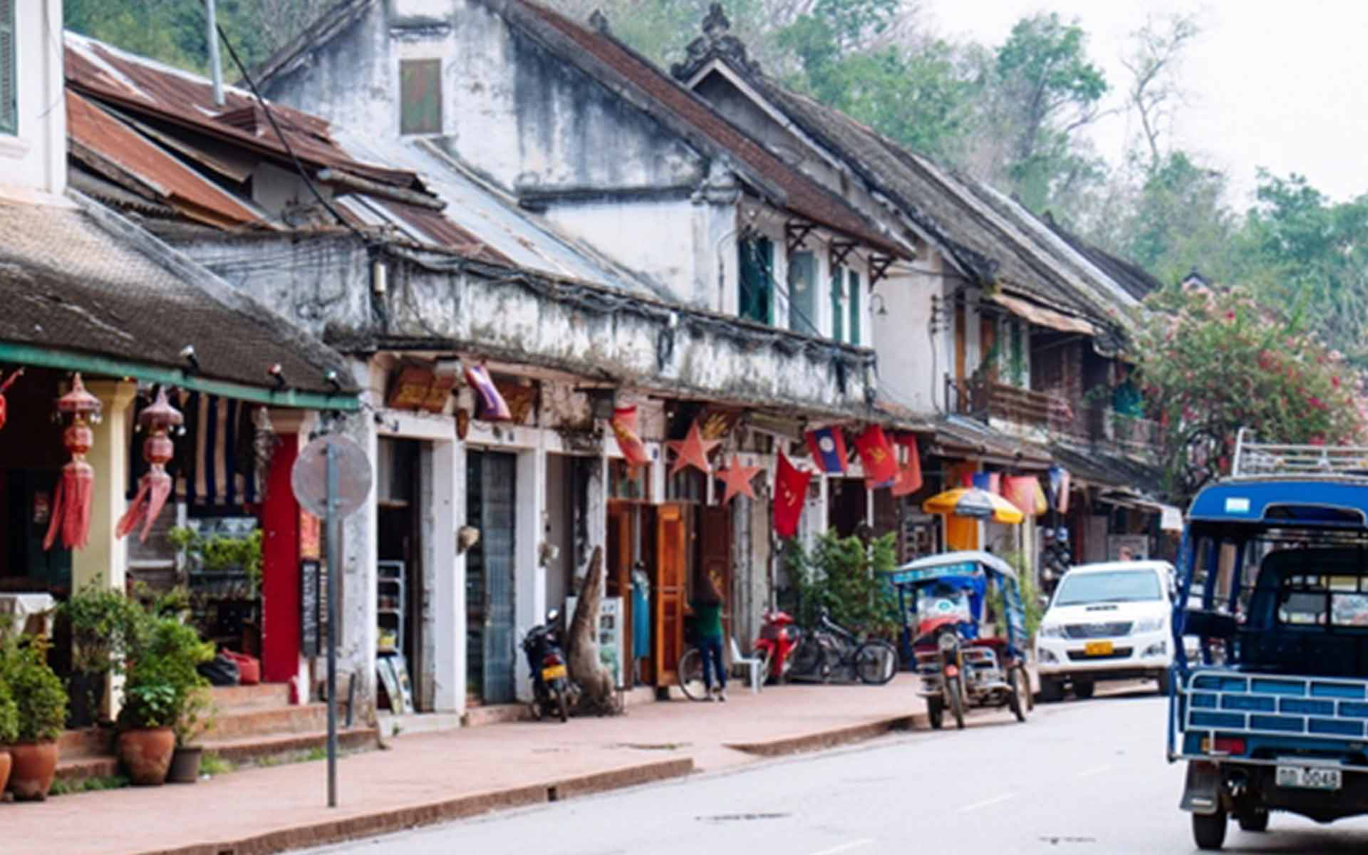 Luang Prabang,This ancient city was recognized by UNESCO and has been a capital until 1975