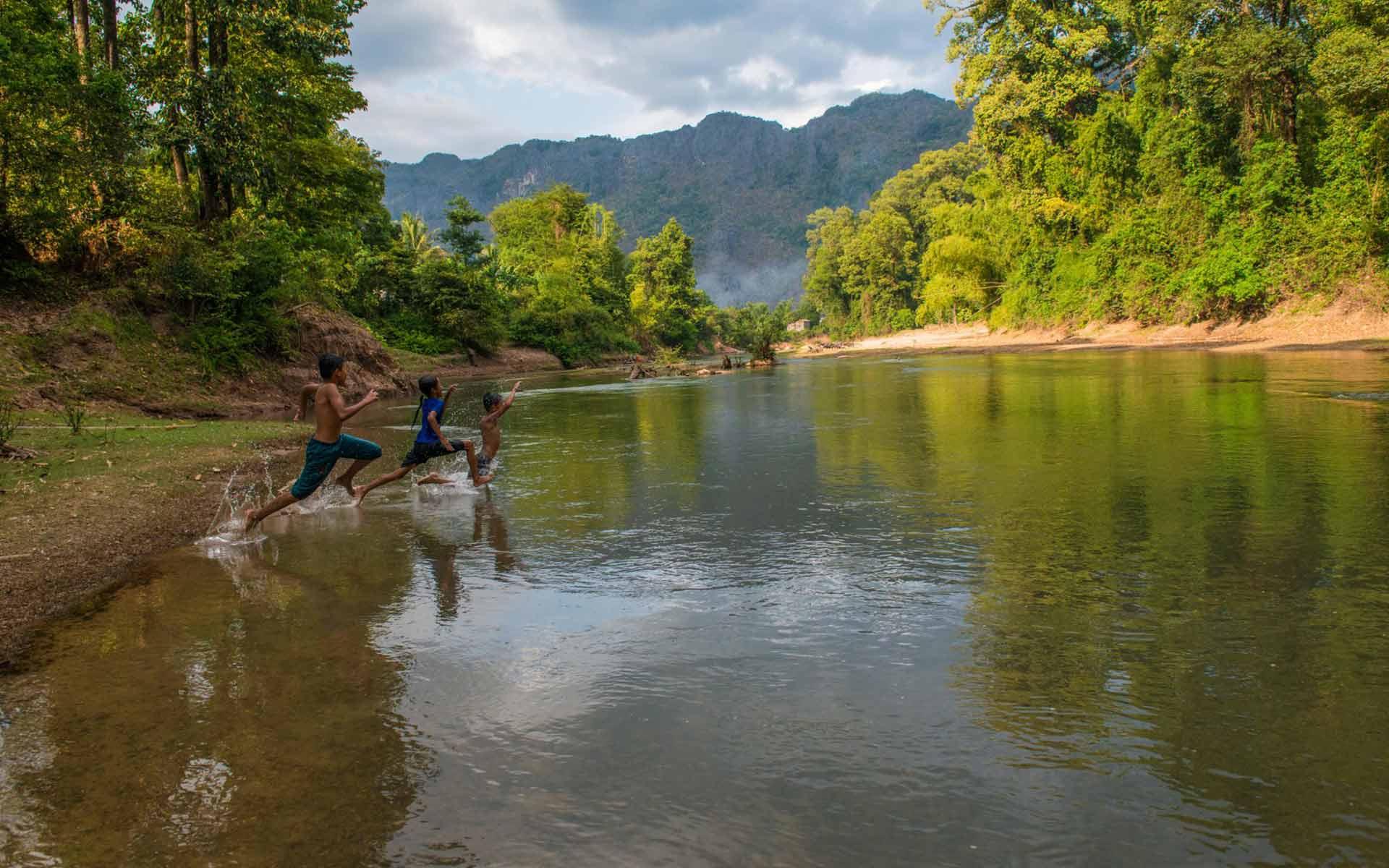 river in Konglor Village