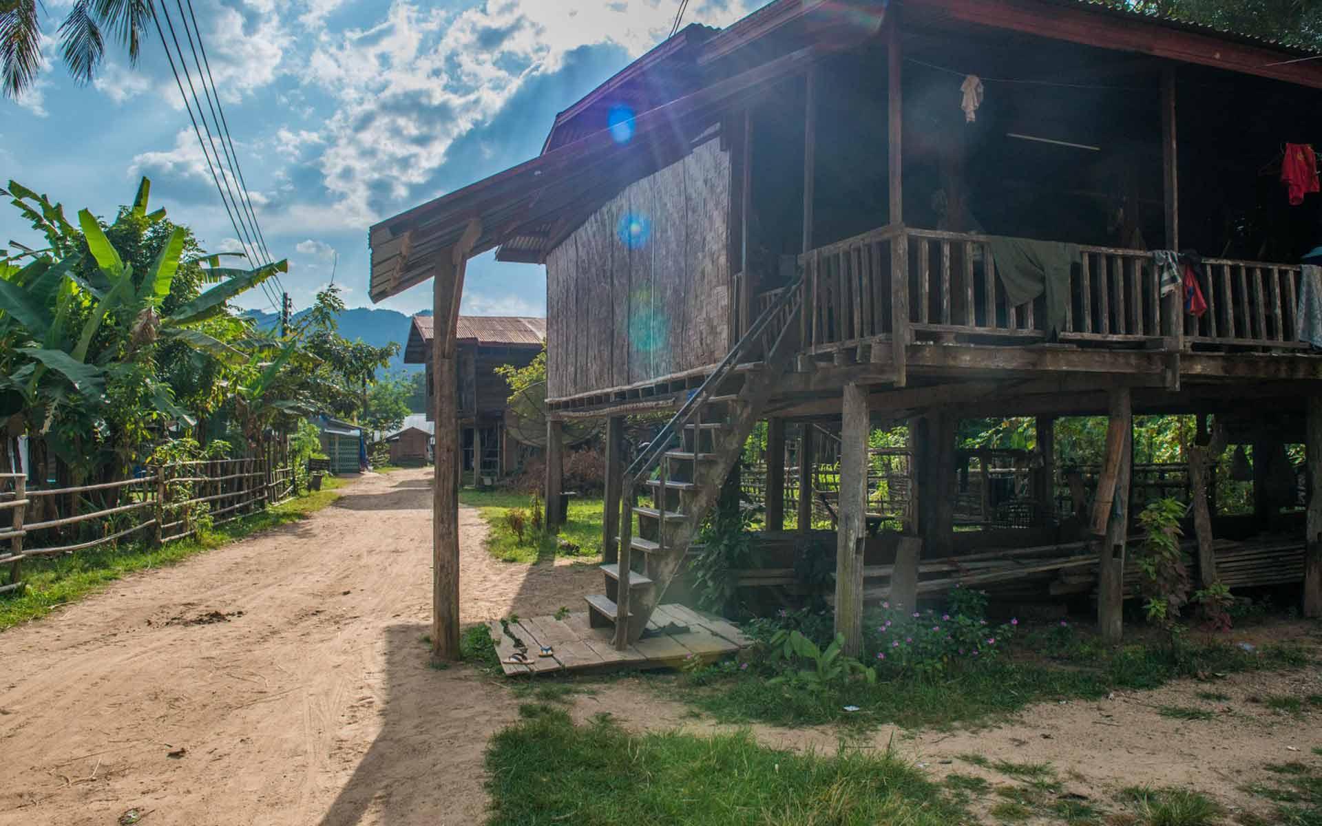 house on stilts in Konglor Village