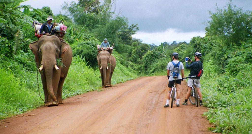 Cycling around Luang Prabang Laos Travel