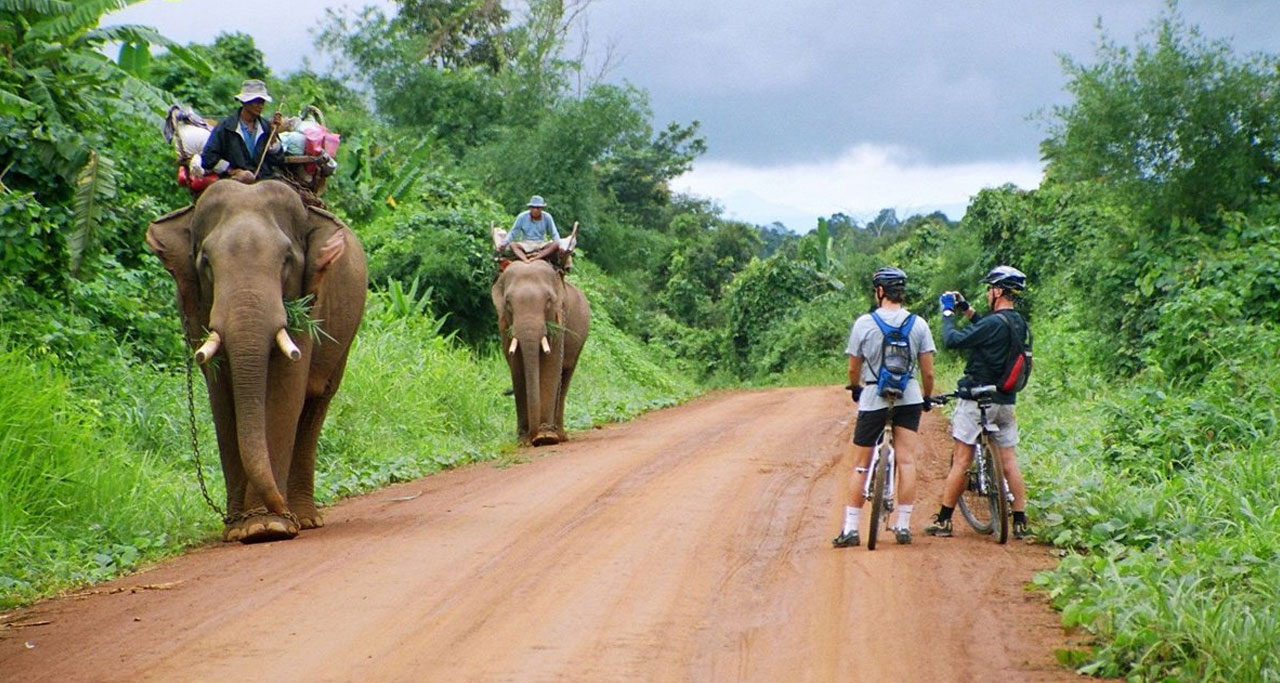 cycling tour in laos
