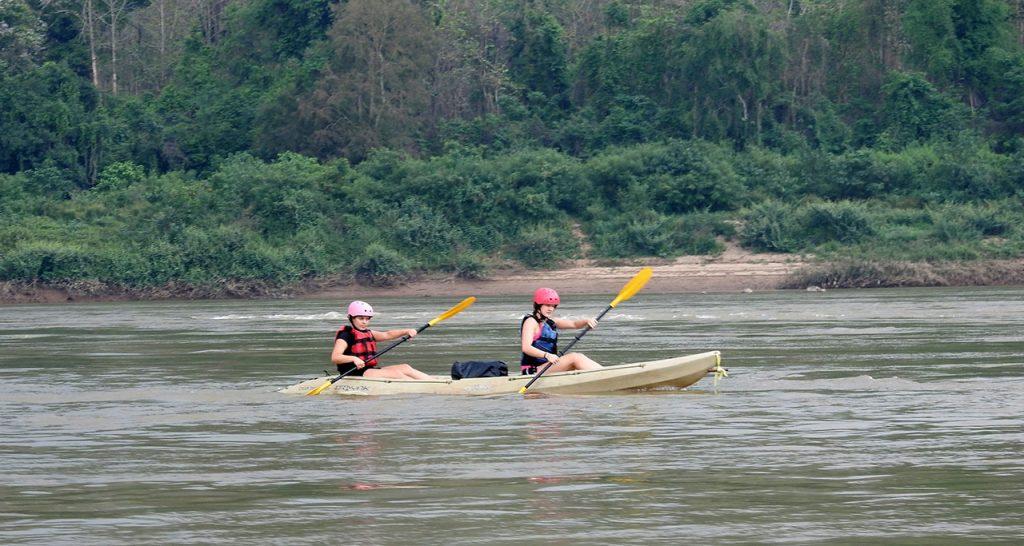Kayaking on rivers luang prabang Laos Travel