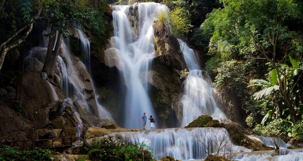 Khuang Si Waterfall in luang prabang Laos Travel