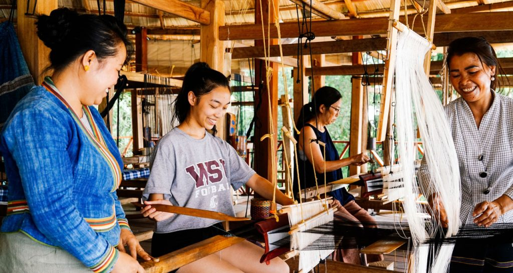 Learn how to weave at Ock Pop Tok Laos Travel