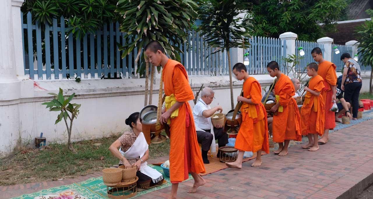 Luang Prabangs alms giving ceremony Laos Travel