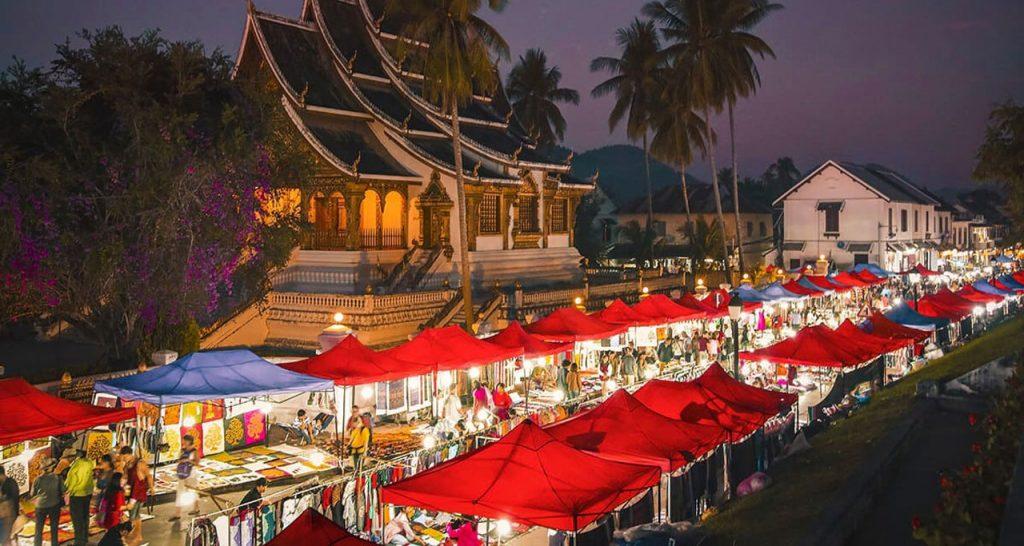 visit night markets luang prabang Laos Travel