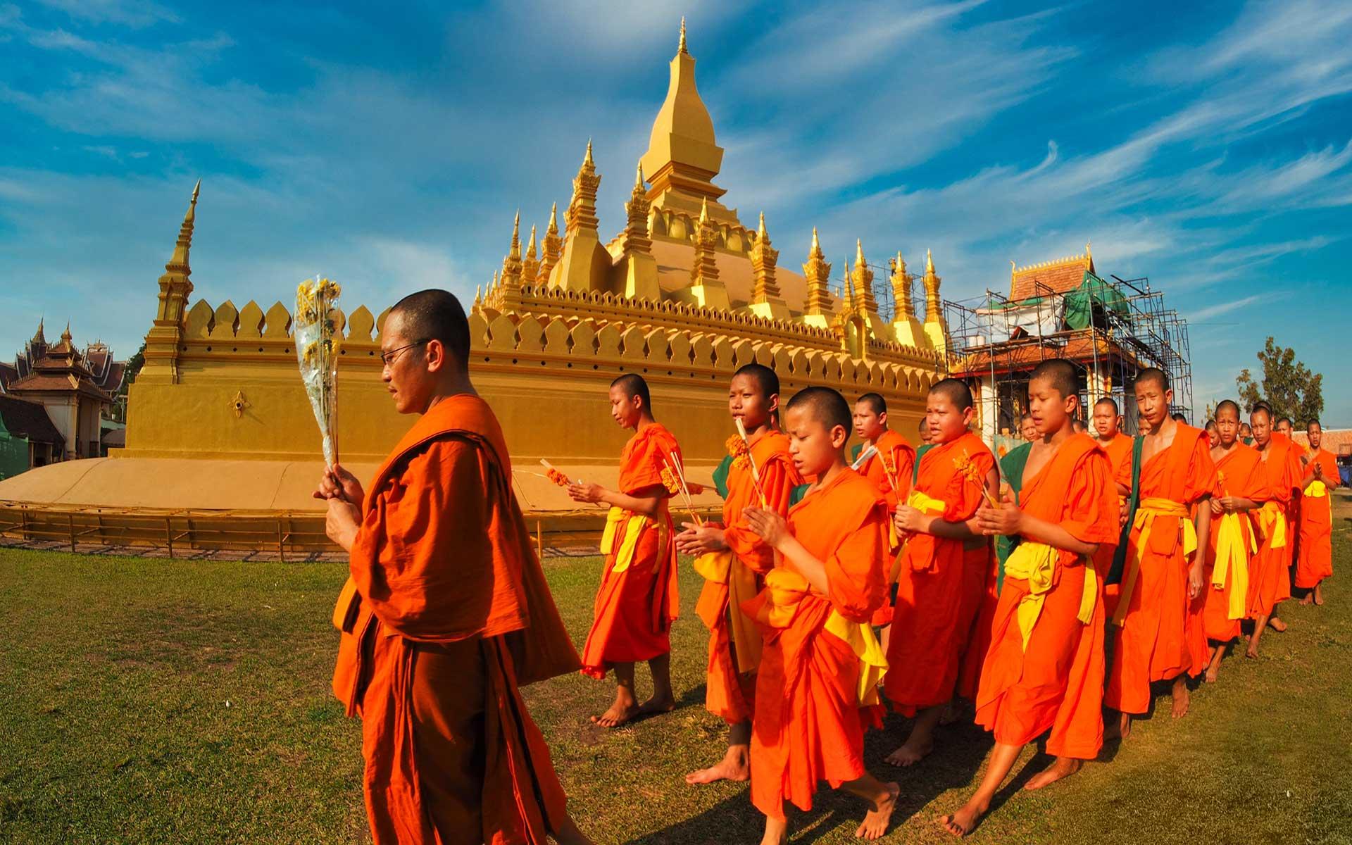 Pha That Luang Stupa in Vientiane