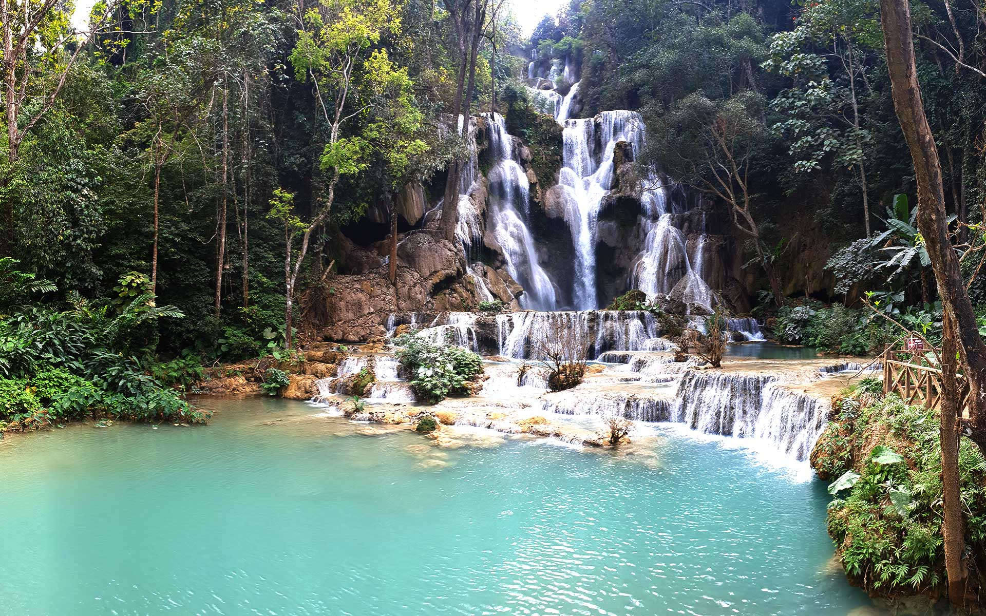 tad sae waterfall luang prabang