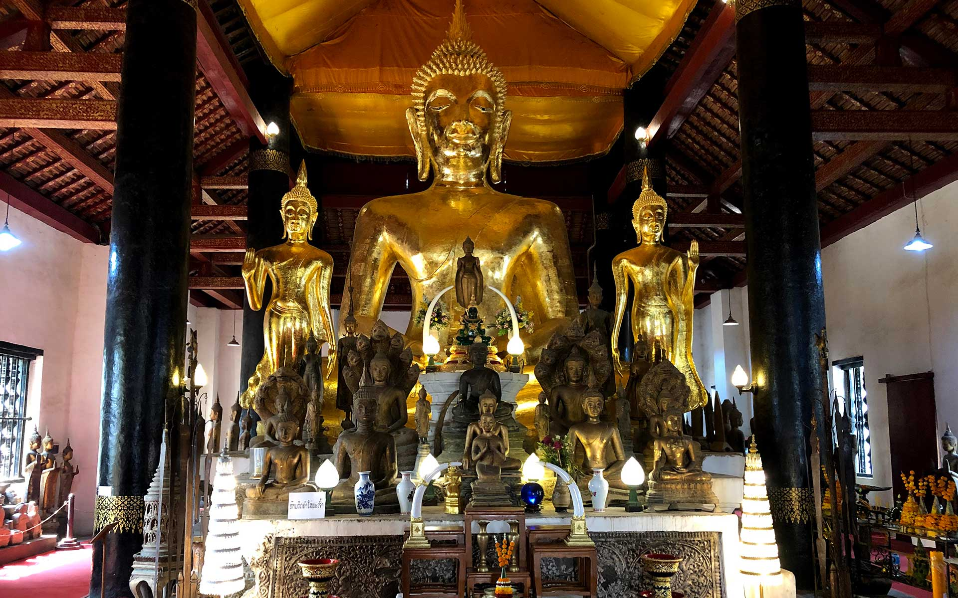 Wat Visoun temple now is served as The Buddha Collection Museum of Religious Arts.