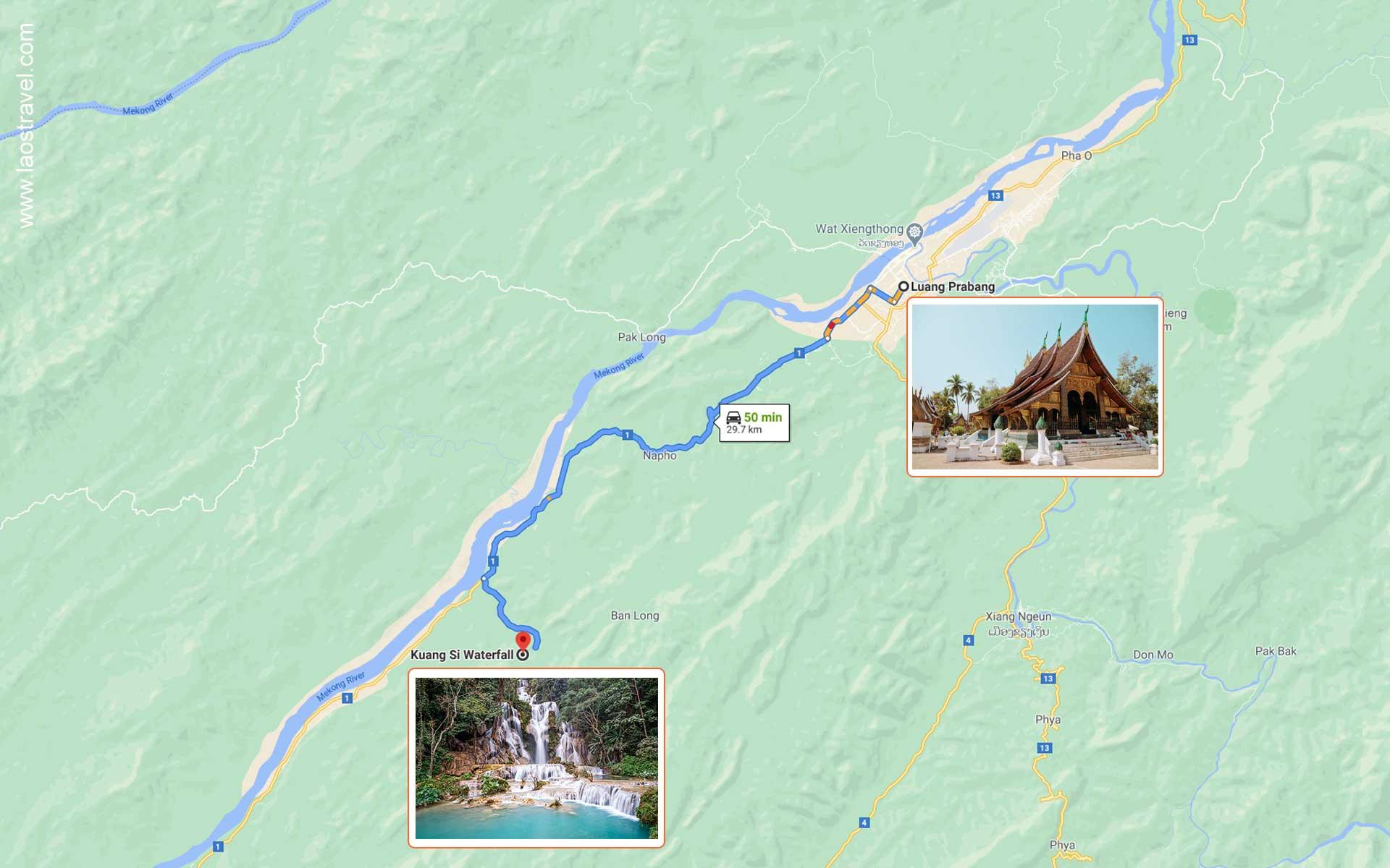 luang prabang to Kuang Si Falls