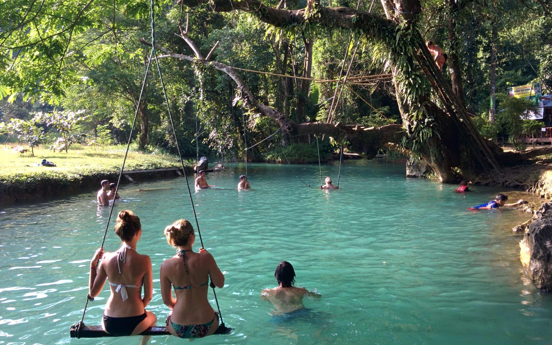 Blue Lagoon vang vieng laos