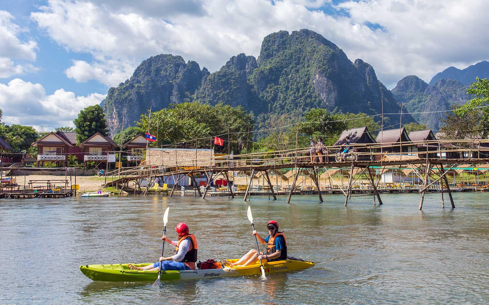Kayak on Nam Song River