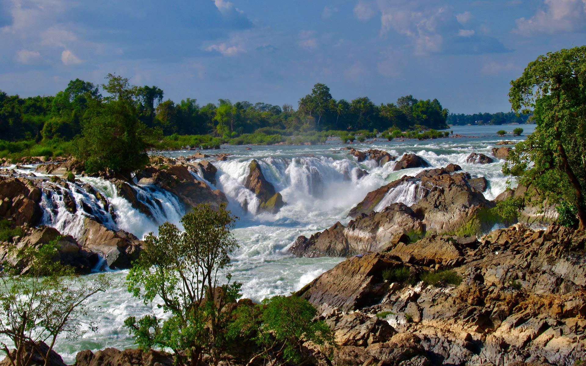 Khone Phapheng Waterfall si phan don laos