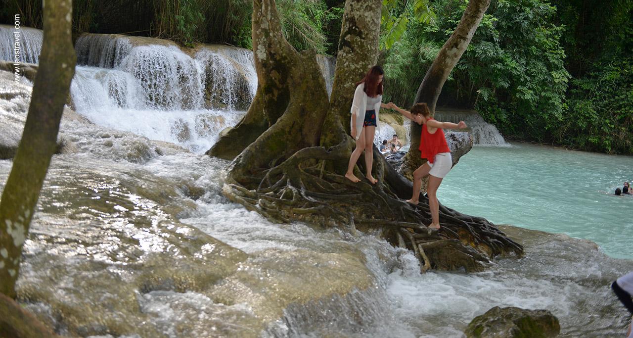 Waterfalls in Luang Prabang