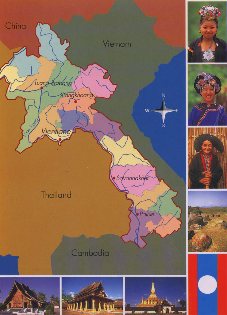 old map of laos