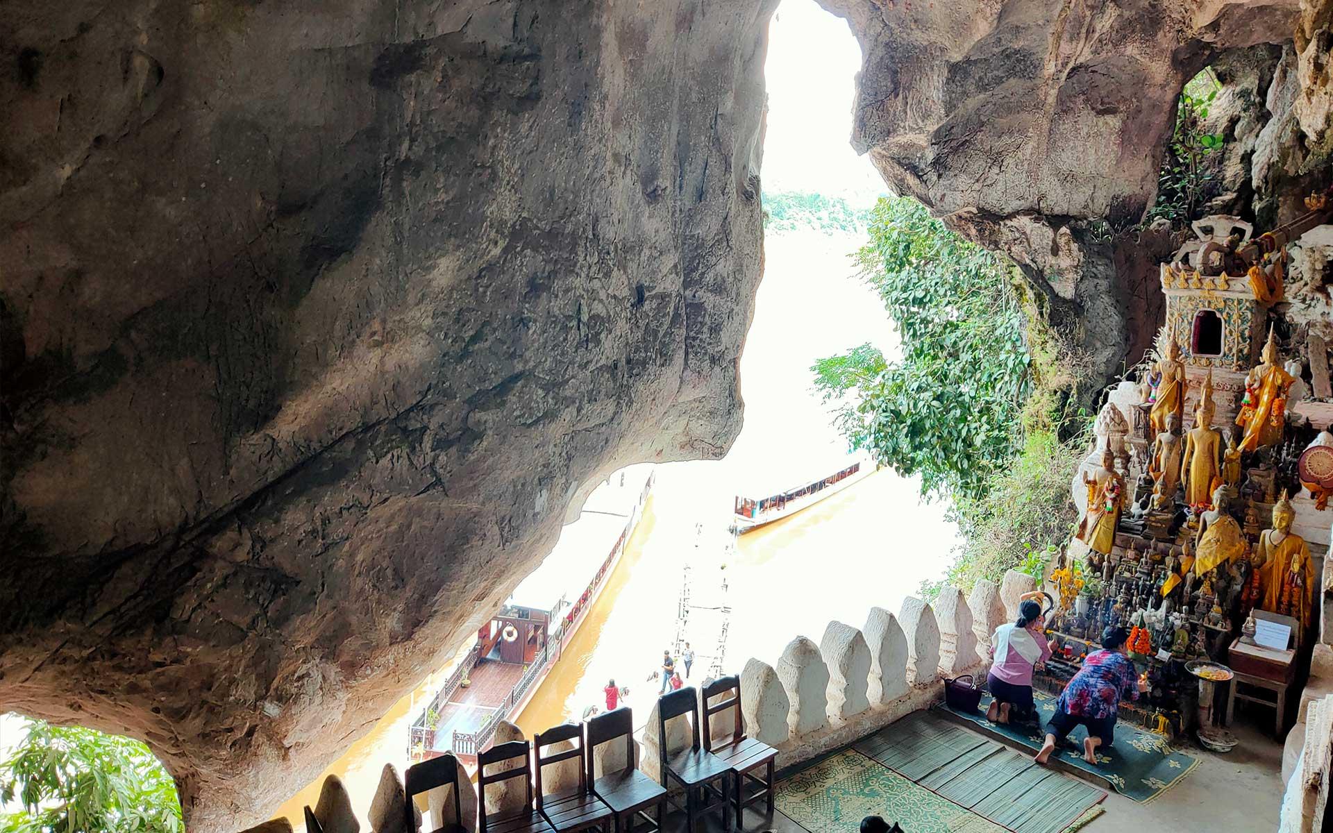 Located on Mekong River, Pak Ou Caves is very important site with over 4000 Buddha icons