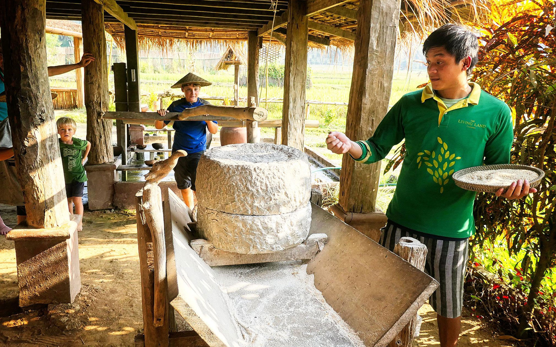 Join local life on organic farm and have fun time at the Living Land Company, that is one of interesting activities in Luang Prabang.