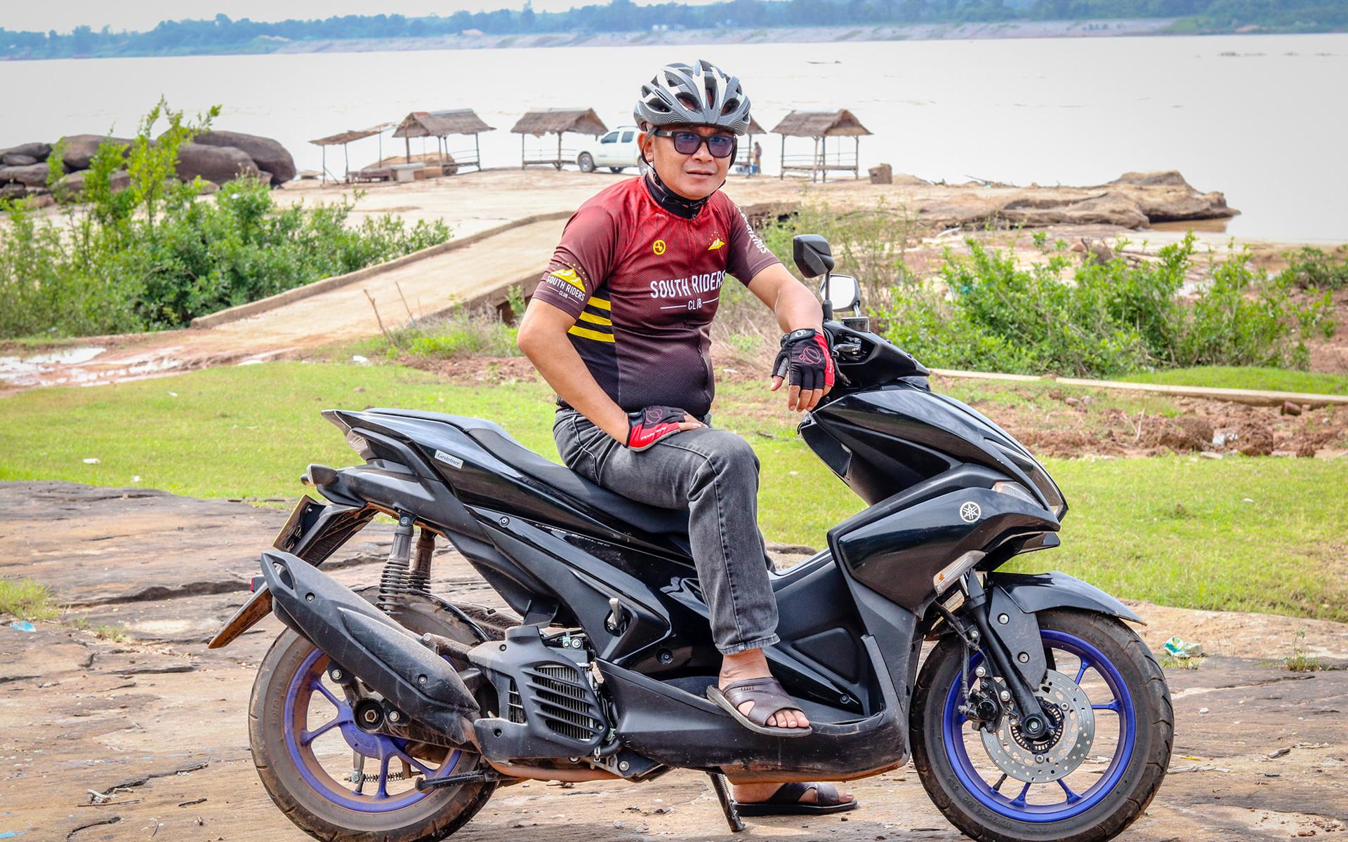 Motorbike in laos