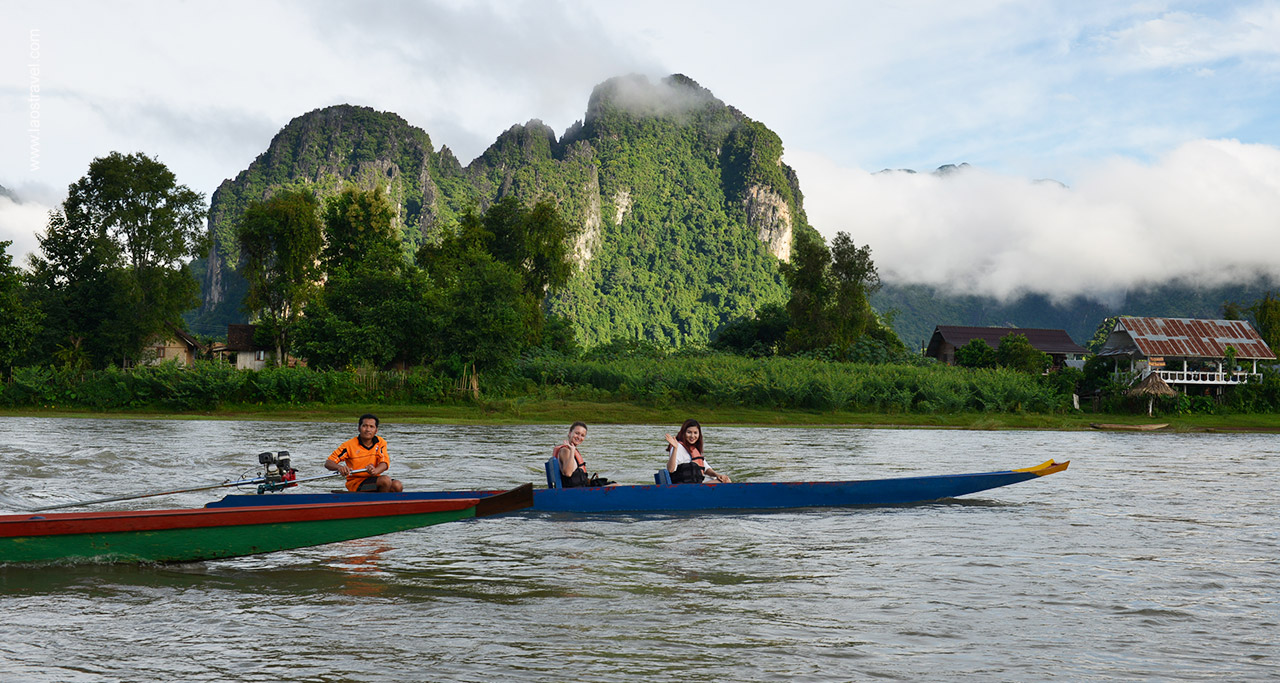 Vang Vieng is paradise for outdoor activities.