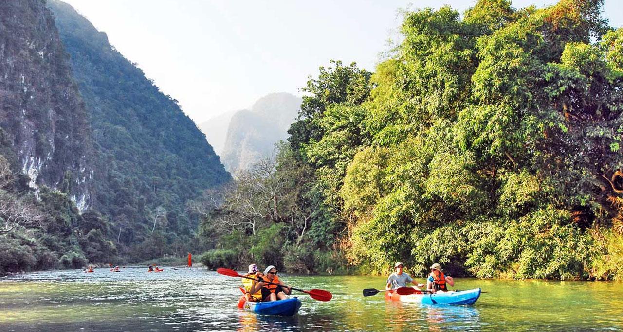 Kayak in Luang Namtha river is Absolutely Fun things to do in Luang Nam Tha