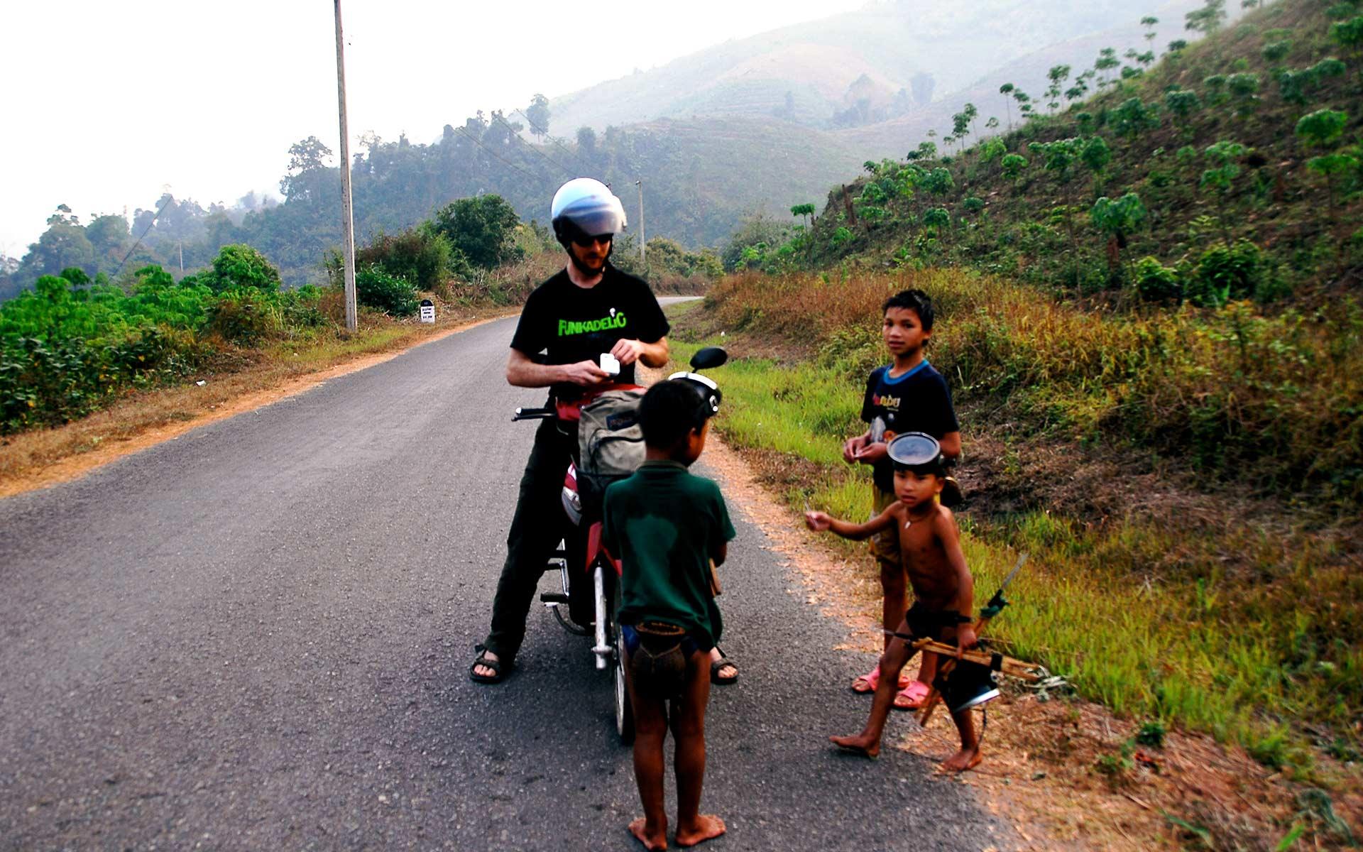 Motorbike in luang namtha laos