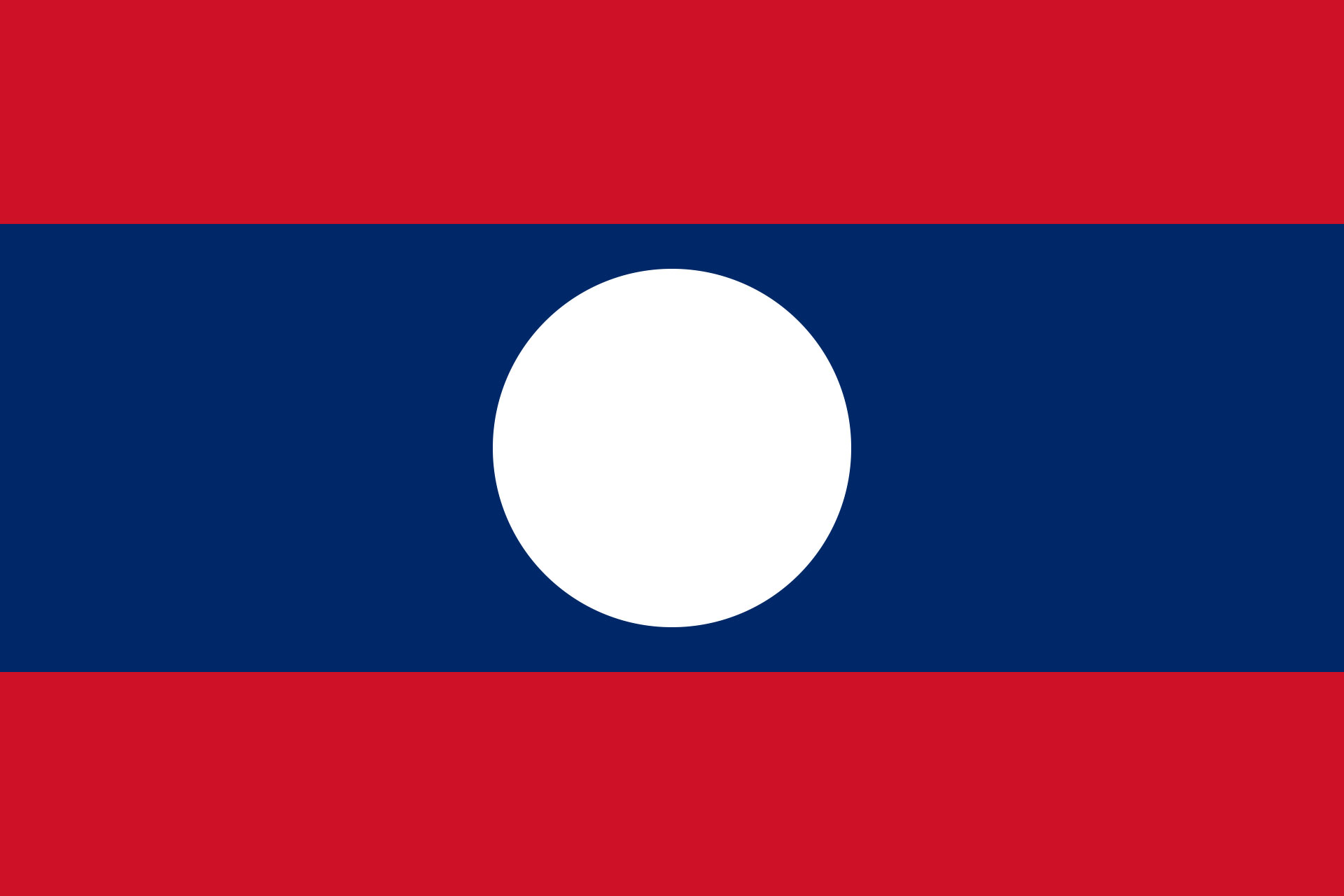 flag of laos 1975 to present