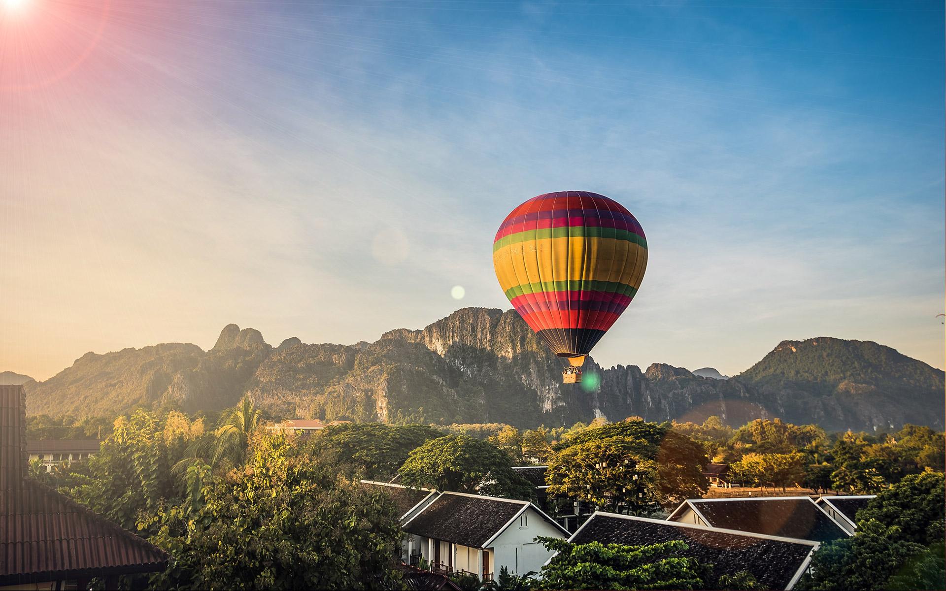 Balloons in Vang Vieng