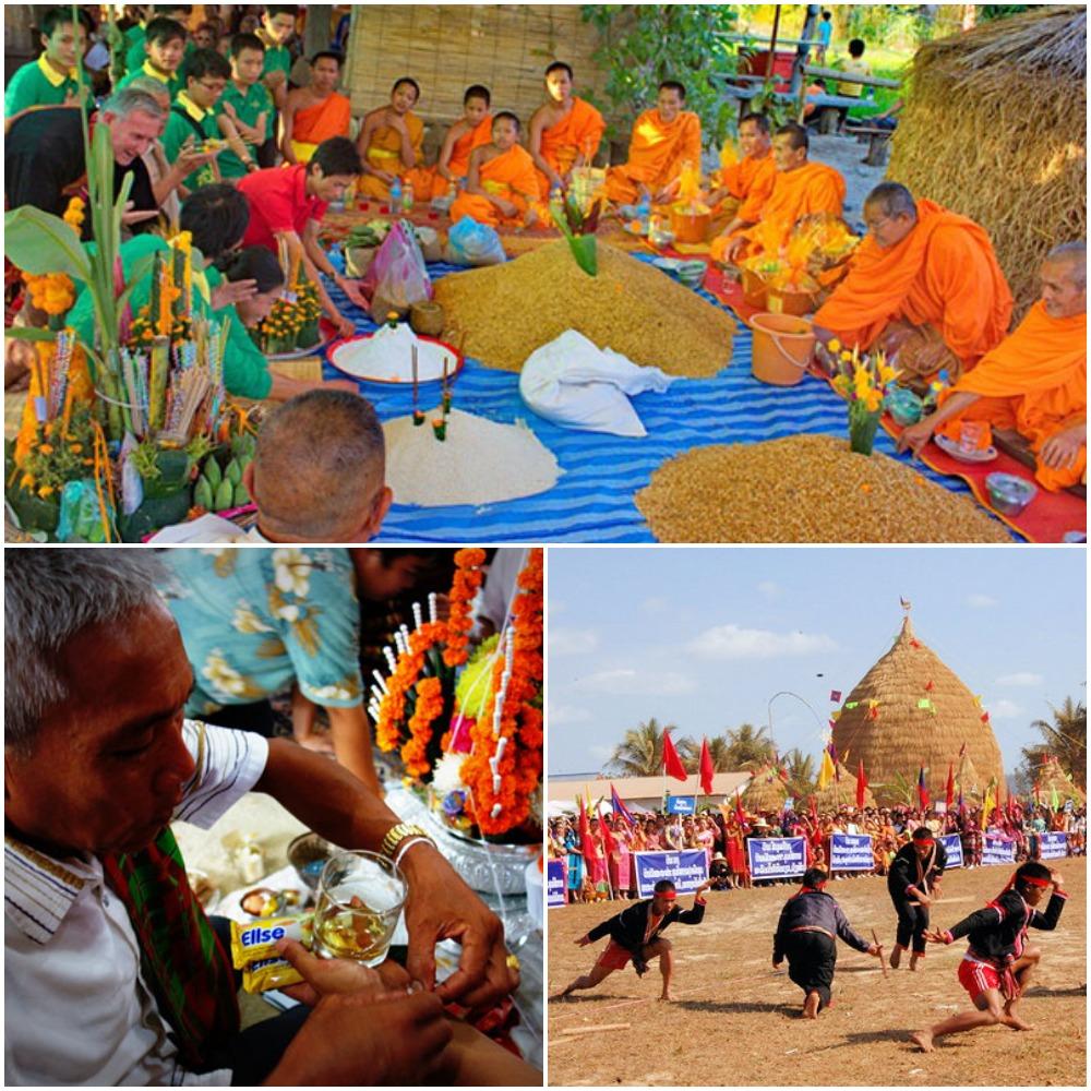 rice festival laos