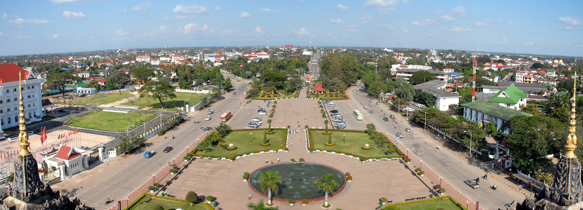 Vientiane view from patuxai - Vientiane Travel Guide