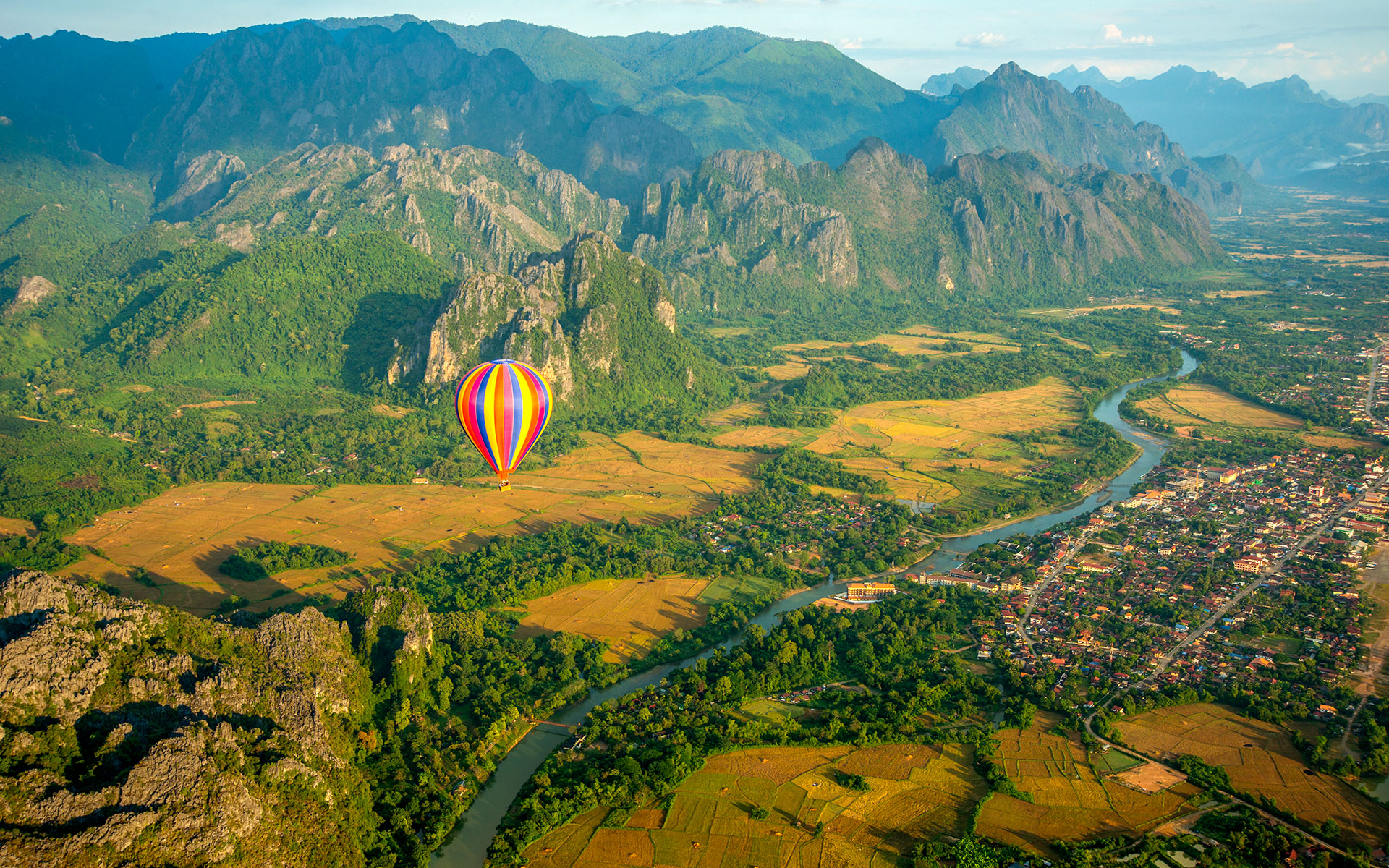 Hot Air Balloon, Vang Vieng