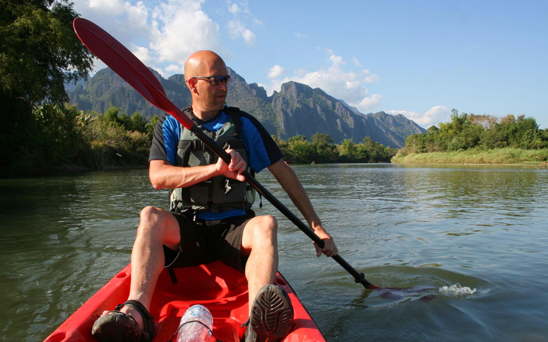 Kayaking, Vang Vieng