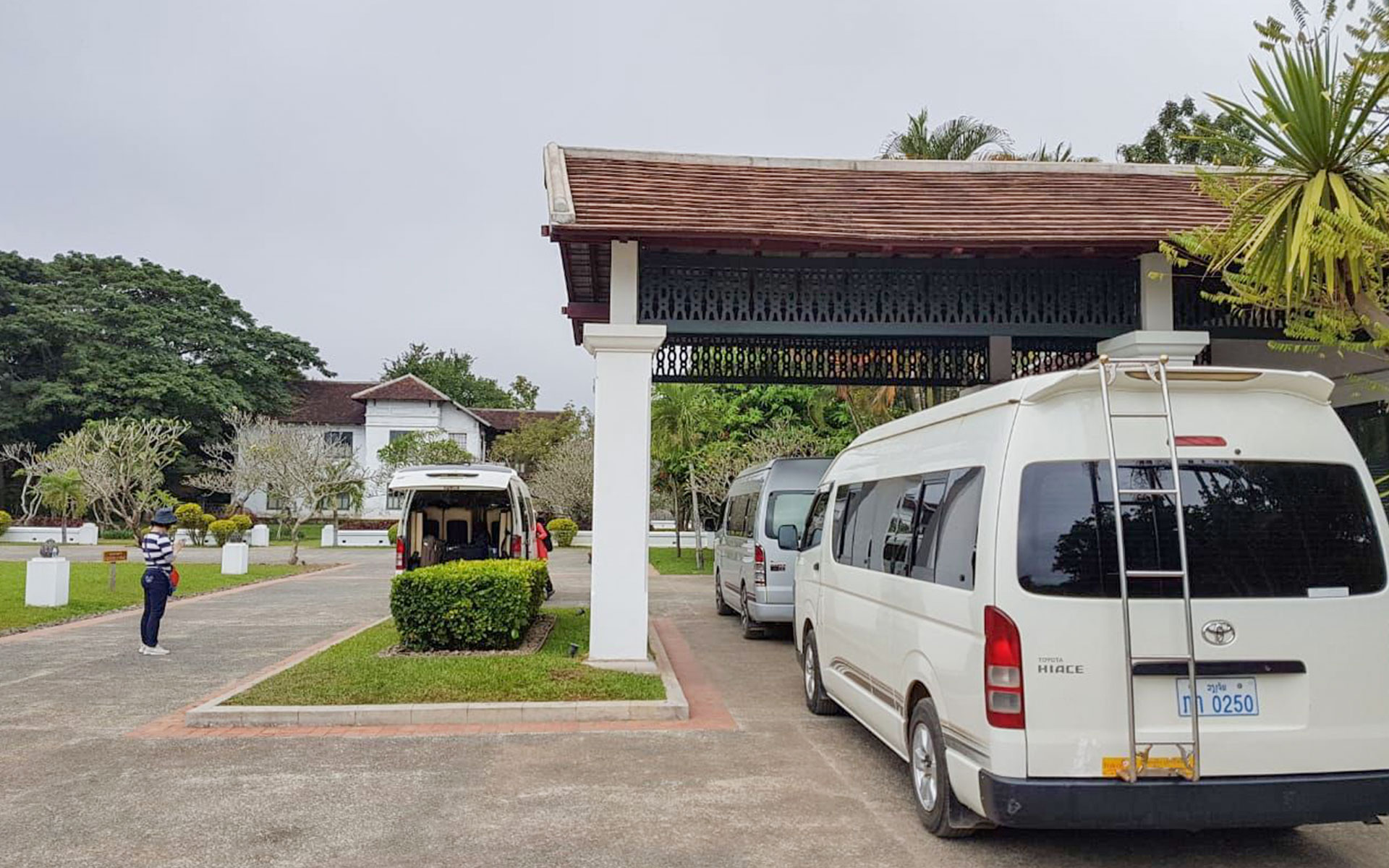 Minivans are also one good option for traveling from Luang Prabang to Vang Vieng